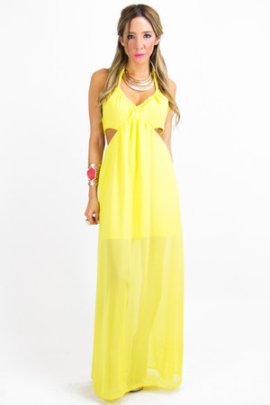 yellow chiffon HAUTE & REBELLIOUS dress