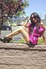 Pink-cotton-candy-blouse-black-lace-shorts-black-forever-21-shoes-black-fo
