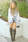 Black-haute-rebellious-boots-black-american-apparel-hat-black-fringed-bag-