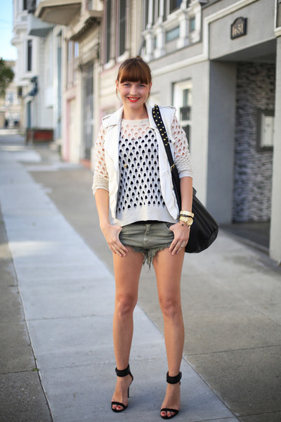 Zara shorts - Urban Outfitters shorts - H&M vest