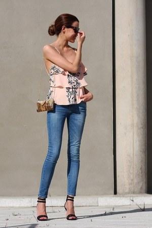 Mango jeans - ray-ban sunglasses