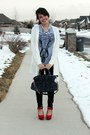 Heather-gray-cotton-wholesale-shirt-navy-pleather-apricot-lane-purse