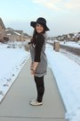 Black-tunic-unknown-dress-black-floppy-forever-21-hat