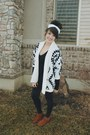 White-aztec-chicwish-sweater-black-roxy-sweater-black-forever-21-leggings