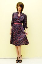 Purple-floral-dress-vintage-dress