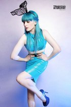 turquoise blue Deer Couture top - turquoise blue Deer Couture skirt