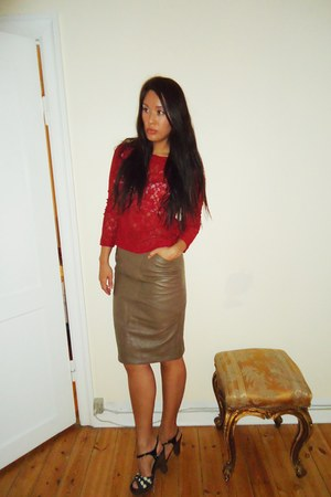 H&M top - thrifted skirt