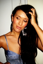 purple Saint Tropez dress - gray GINA TRICOT earrings