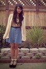 Beige-rock-steady-blouse-cream-knit-roxy-cardigan