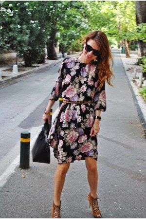 vintage dress - Zara shoes - Zara bag