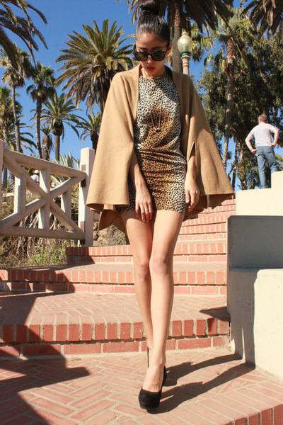 D&G dress - YSL shoes - vintage coat