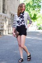 black OASAP shirt - camel Rebecca Minkoff bag - black Forever 21 shorts