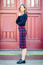Brick-red-tartan-zara-skirt-navy-zara-top-black-jeffrey-campbell-loafers