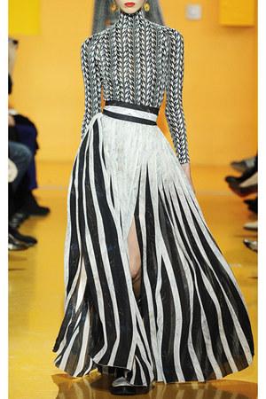 herringbone Kenzo dress - marble stripes Kenzo skirt