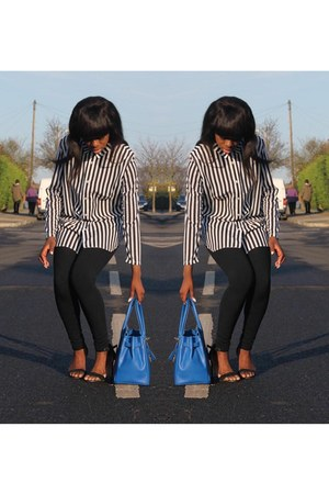 Vanilla Paris bag - Topshop leggings - Primark heels - H&M top