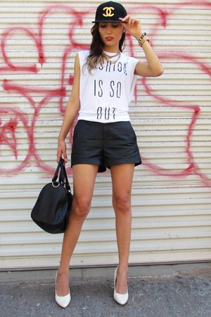Virgo LA local store hat - H&amp;M heels - Forever 21 t-shirt - Michael Kors watch