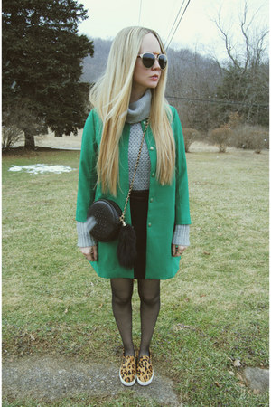 green 6ks jacket - tawny Steve Madden shoes - heather gray whyred sweater