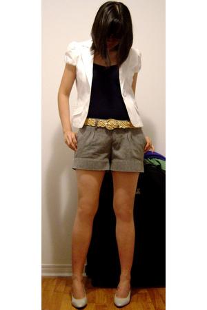 Guess blazer - H&M top - H&M shorts - Nine West shoes