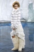white Chanel dress