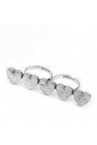 Silver-plated-diamond-petal-ring