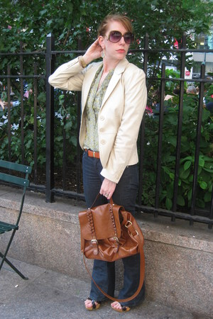 H&M blazer - banana republic shirt - H&M bag - Zara belt
