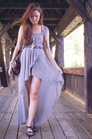 silver sheer in love with fashio dress
