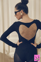 heart by eugenia enciu bodysuit - pearls vintage accessories