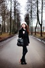 Black-bik-bok-boots-black-pull-bear-jeans-white-rabbit-fur-hat