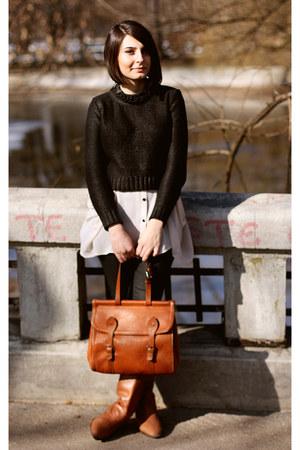 H&M top - H&M blouse - pull&bear pants