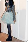 New-look-dress-gray-new-look-jacket-black-asos-shoes