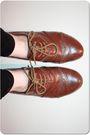 Red-cardigan-white-vintage-shirt-black-h-m-jeans-brown-primark-shoes