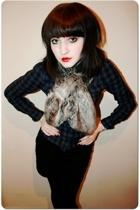 scarf - H&M shirt - H&M skirt - Topshop