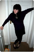 River Island sweater - H&M skirt - Topshop - Rocketdog shoes