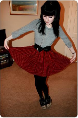 warehouse top - Peacocks - Vintage Next skirt