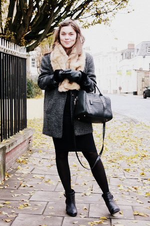 charcoal gray Primark coat - black Primark skirt