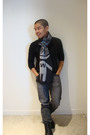 Black-club-monaco-sweater-gray-uniqlo-jeans-black-calvin-klein-boots-gray-