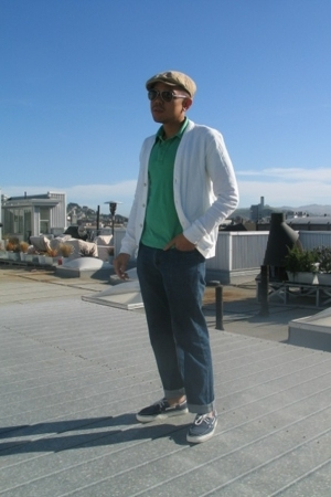 rag & bone top - Uniqlo shirt - H&M jeans - Vans shoes - H&M hat
