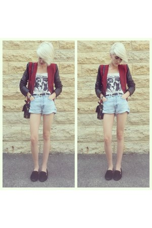 Rebecca Minkoff blazer - elle satchel Rebecca Minkoff bag - calvin klein shorts