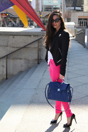 bag Danielle Nicole bag - denim joes jeans - blazer Helmut Lang blazer