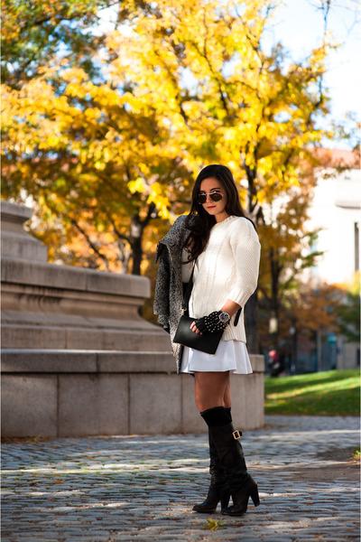 white express Skirt skirt - brown boots Dolce & Gabbana boots