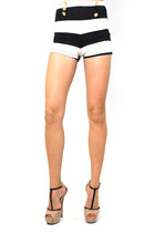 white black and white DivaNYcom shorts