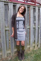 Express top - Betsey Johnson dress - free people socks - Rocket Dog boots