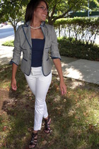 BCBG blazer - American Eagle top - Express Ankle Pants pants - Blowfish shoes