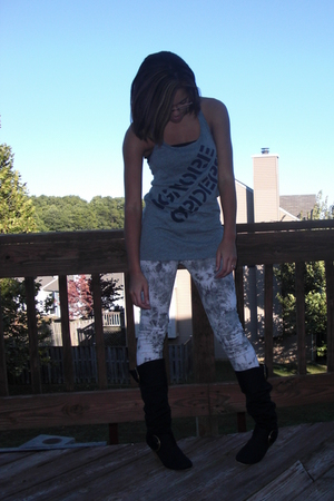 Urban Outfitters top - BDG jeans - DSW boots - Forever21 bra