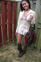 free people shirt - hollister shorts - free people socks - Rocket Dog boots - Ur