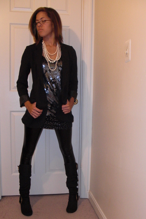 Express top - Express blazer - Forever 21 leggings