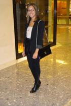 Express blazer - Forever 21 leggings - crown vintage shoes