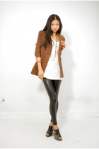 Brown-coat-black-american-apparel-leggings-black-sterling-shoes-shoes