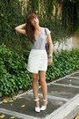 White-alexander-wang-shoes-silver-chanel-bag-white-mango-skirt