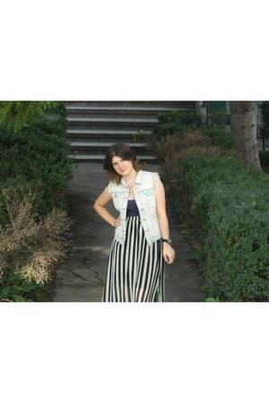 denim new look vest - Primark skirt